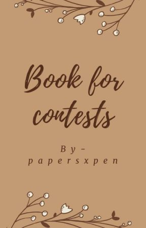 book for contest by papersxpen