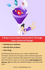 3 Ways to Increase Conversions Through User-Centered Design by josephdennyy01