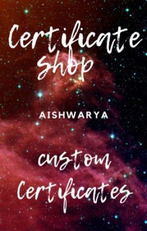 Certificate shop by AishwaryaNeelisetty