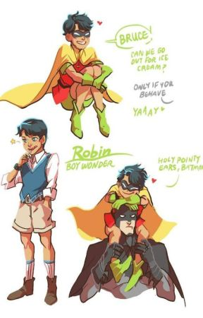 Batfamily Age reversal (DICK youngest) by ladysheepdragon