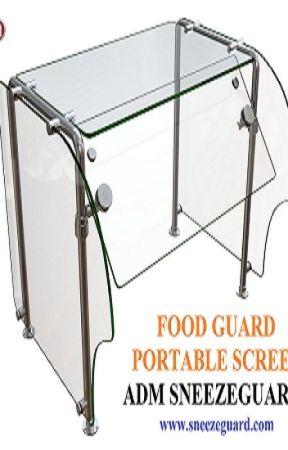 Food Guard   Portable Screen   ADM Sneezeguards by admsneezeguards