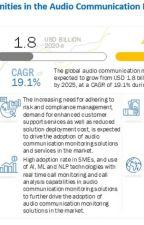 Audio Communication Monitoring Market worth $4.3 billion by 2025 by mukesh-kulkarni