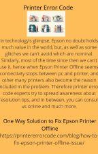 One Way Solution to Fix Epson Printer Offline by printererrorcode