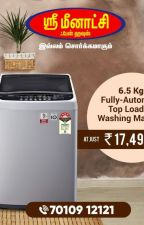 6.5 Kg Fully Automatic Top Loading Washing Machine by Tamils122