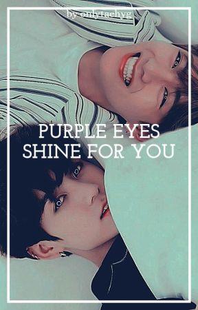 Purple eyes shine for you   kookv by onlytaehyg
