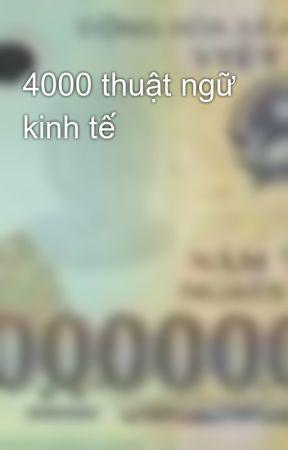 4000 thuật ngữ kinh tế by chauminhhoang