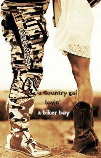 a Country gal lovin' a biker boy cover