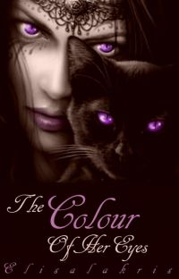 The colour of her eyes cover