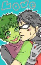 Robin x Beast Boy by wizcontrol