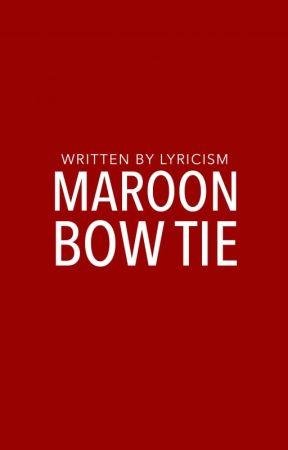 Maroon Bow Tie | ✓ by lyricism