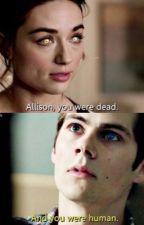 Allison and Stiles back to back. by TeenWolfStilesOBrien