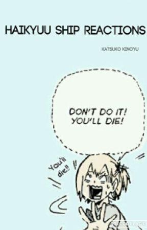 Haikyuu Ship Reactions by Katsuko-Kinoyu
