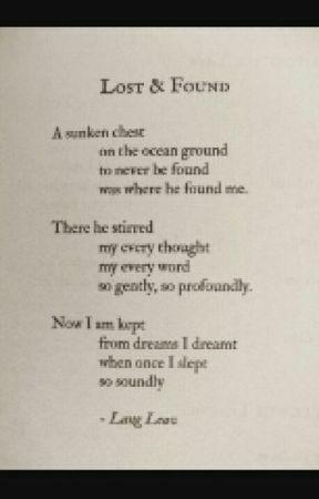 Lost & Found Poetry by murtaghthewanderer