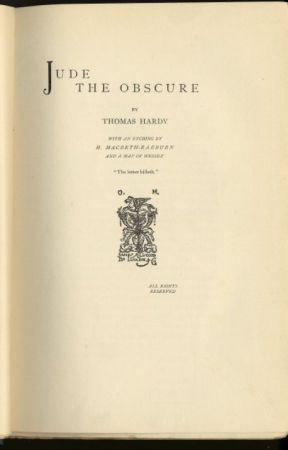 Jude the Obscure (1895) (Completed) by ThomasHardy