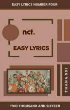 nct ᨀ easy lyrics。 by thana-ssi