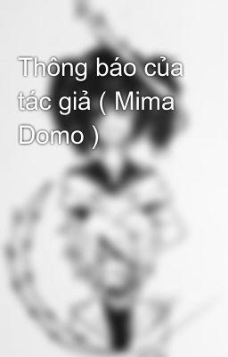 Đọc truyện Thông báo của tác giả ( Mima Domo )