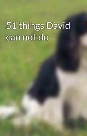 51 things David can not do by saina1997