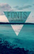 Fonts by artsybambi