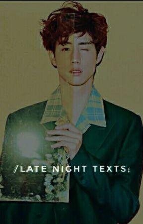 late night texts 》m.t × j.k  by aigoooyaa