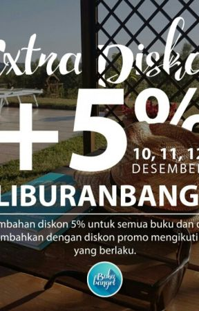 EXTRA DISKON +5% #LIBURANBANGET by tokobukubanget