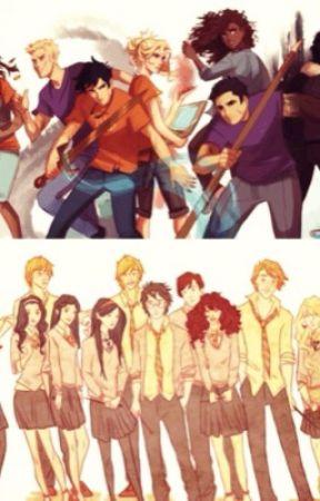Demigods at Hogwarts by WALLERBY