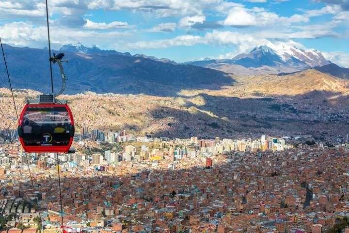 Foto da cidade de La Paz, Bolívia