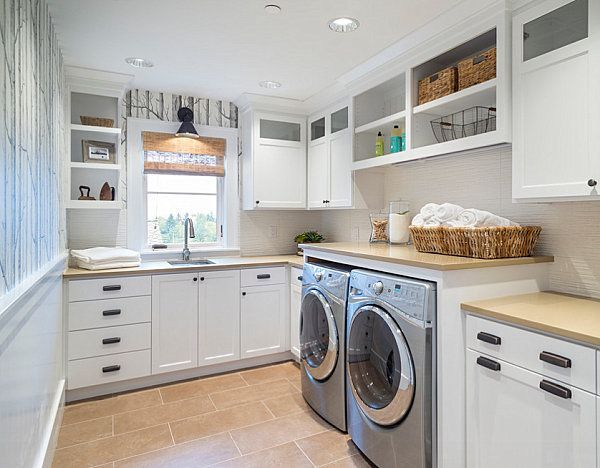 The laundry room-