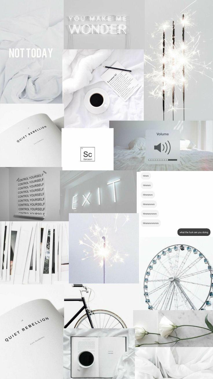 Wallpaper Aesthetic White Wattpad