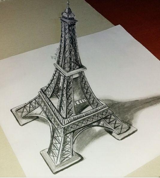 التلميذ ثعبان نأمل رسم برج ايفل ثلاثي الابعاد Comertinsaat Com