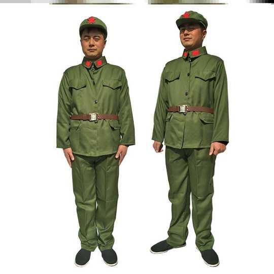 Quân trang màu xanh rêu kiểu cũ