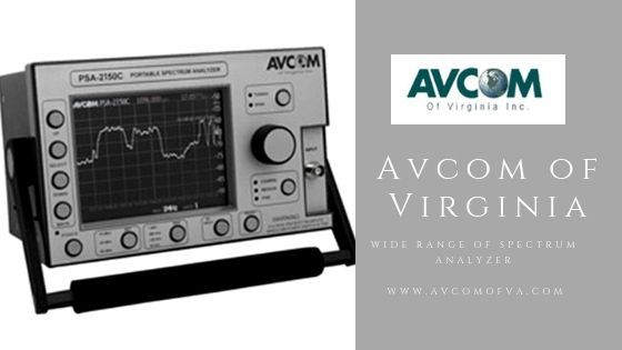 The spectrum analyzer includes the spectral composition of optical waveform, power, acoustic, and electric