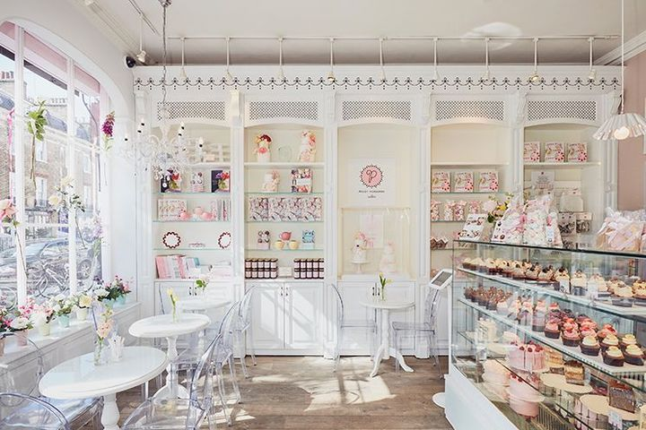 It was a small space, and I personally wanted everything in white with a touch of pastel pink in there, it gave the place a very peaceful ambience for people to visit and sip a nice cup of coffee