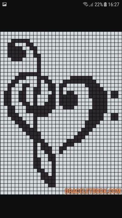 Pixel Art Cœur Note De Musique Wattpad