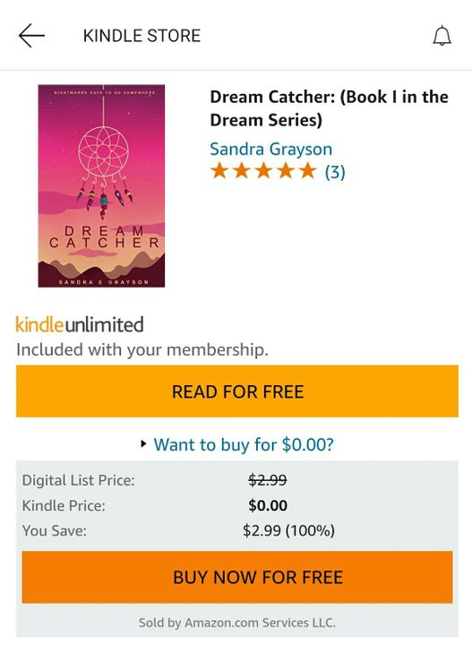 If you are interested in reading Dani's story, Dream Catcher, you can now find it on Amazon
